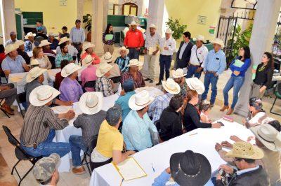 Obtiene CNC 10 mdp en créditos para campesinos de 9 municipios