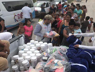 Auxilian a población de Ceballos ante contingencia por lluvias