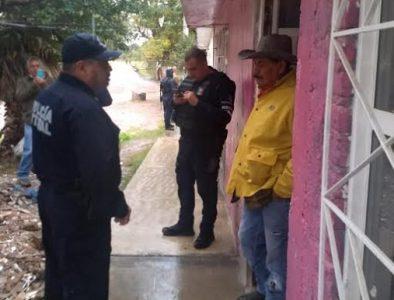 Apoya Policía Estatal en evacuación de personas en Súchil