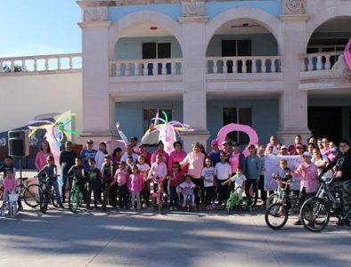 Realizan 'Rodada Rosa' en Canatlán