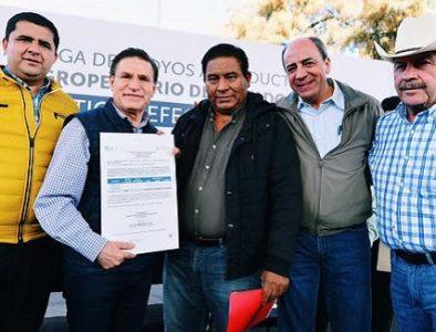 Gobierno del Estado entrega apoyos a productores de La Laguna