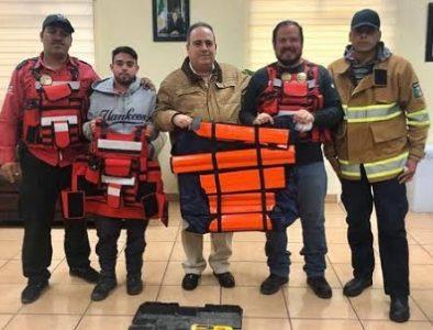 Entregan equipo a Protección Civil de Guadalupe Victoria