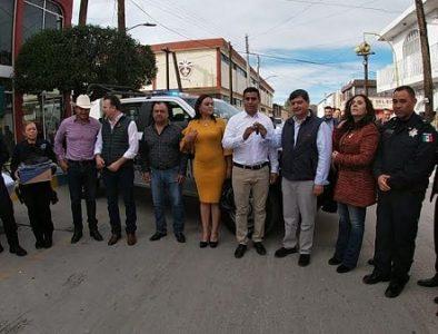 SSP entrega equipo en Canatlán, Nuevo Ideal, Santiago Papasquiaro y Tepehuanes