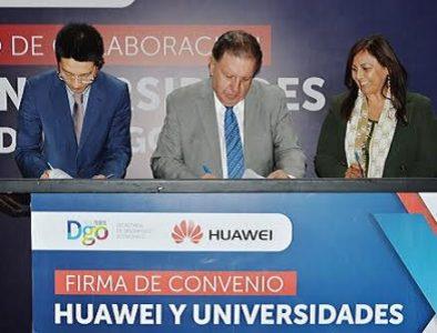 Huawei y Gobierno de Durango firman convenio