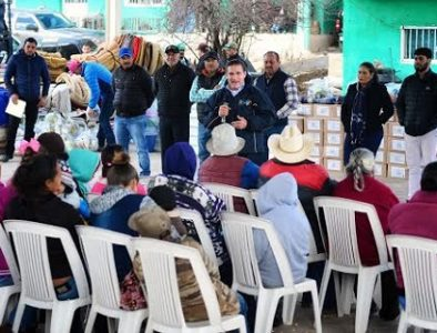Llegan más de 2 mil apoyos invernales a La Rosilla