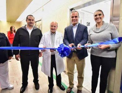 Inaugura Salum nuevas áreas en Hospital del Niño