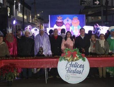 Con Mega Rosca de Reyes, concluye Festival Navideño en Vicente Guerrero