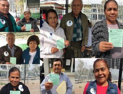 Adultos mayores de Vicente Guerrero obtienen visa gracias al programa 'Abrazando Almas'