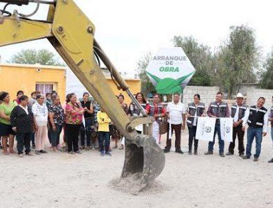 Inician obras de red de agua potable y alcantarillado en comunidades de Cuencamé