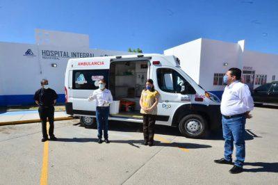 Recibe Nuevo Ideal ambulancia por parte del Gobernador