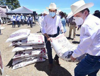 Productores de Pueblo Nuevo y San Dimas reciben apoyo para mitigar sequía
