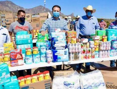 Diputados entregan insumos en la comunidad Adolfo López Mateos