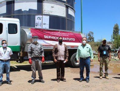 Conagua entrega pipa para abastecer de agua a Guadalupe Victoria