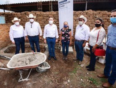 Aispuro da inicio a 136 acciones de vivienda en Pánuco de Coronado