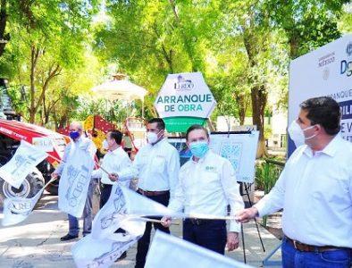 Aispuro inicia y entrega obras por más de 40 mdp en La Laguna