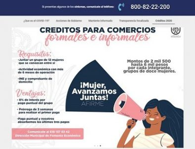 Municipio transparenta microcréditos y acciones por contingencia