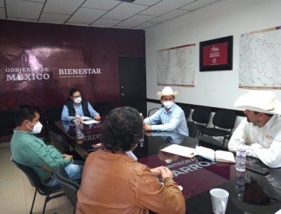 Se reúne Abel Santoyo con delegados federales de Bienestar e INPI