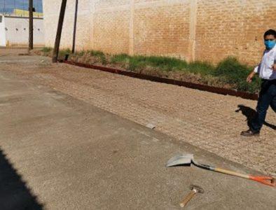 Con pavimentación de calles, cumple Orlando Herrera a su compromiso 19