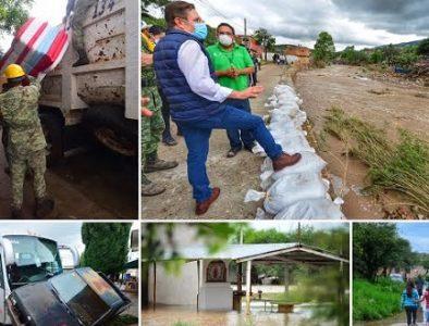 Obtienen Declaratoria de Emergencia para tres municipios de Durango
