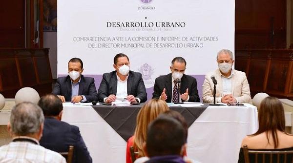 Regidores avalan trabajo por el desarrollo urbano de Durango