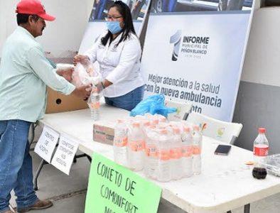 Peñón Blanco instala Centro de Acopio para ayudar a familias de Coneto de Comonfort