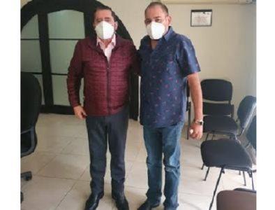 Alcalde de Poanas se reúne con el Secretario de Bienestar Social