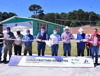 Entrega Aispuro infraestructura educativa en Pueblo Nuevo