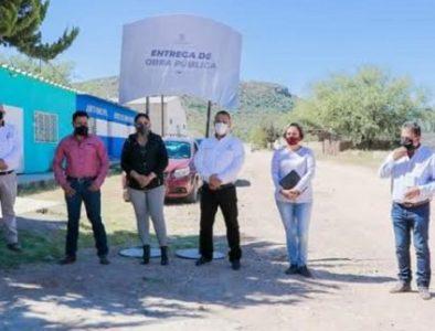 Entregan obras de red de agua potable en comunidades de Cuencamé