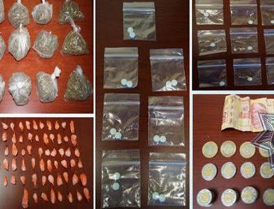 PE asegura diferentes tipos de droga en Pueblo Nuevo, Tepehuanes y Gómez Palacio; hay dos detenidos