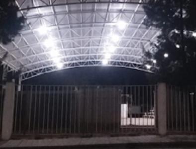 Instalan luminarias en secundaria 'Niños Héroes' de Poanas