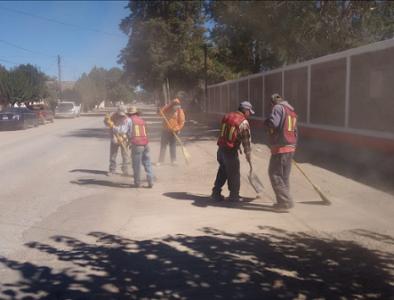 Servicios Públicos de Poanas realiza campaña de limpieza