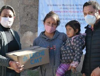 Peñón Blanco realiza primera entrega de leche líquida subsidiada