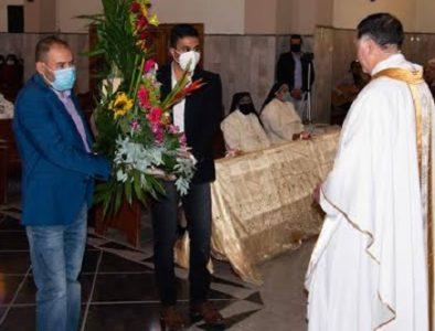 Alcalde de Poanas lleva ofrenda a la Virgen de Guadalupe