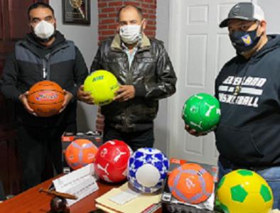 Entrega IED material deportivo al municipio de Poanas