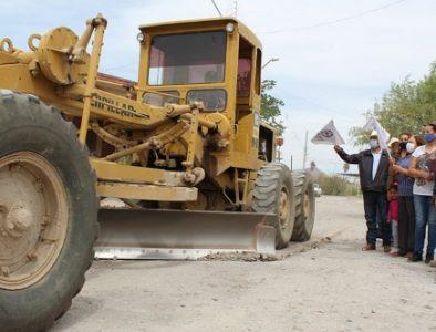 Inicia obra de pavimentación en la colonia Magisterial de Cuencamé