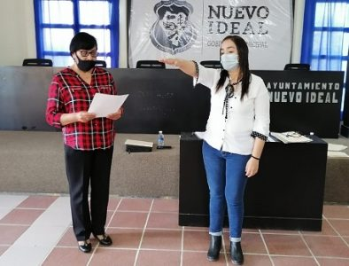 Gladys Moreno Aguirre toma protesta como alcaldesa de Nuevo Ideal