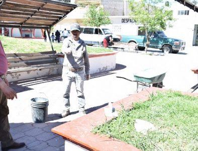 Continúan las brigadas de limpieza en espacios públicos de Peñón Blanco