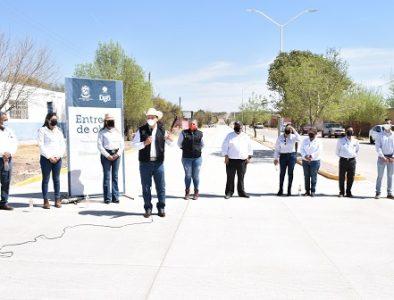 Entregan obra de pavimentación en la comunidad J. Agustín Castro