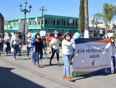 Realizan recorrido en Poanas para conmemorar el Día Internacional del Agua