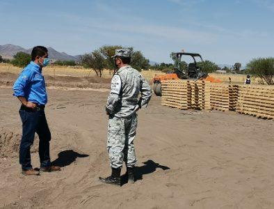 Trabajan en la construcción del Cuartel Militar de Vicente Guerrero