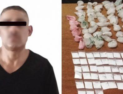 Lo detuvieron con más de 250 porciones de droga en Pueblo Nuevo
