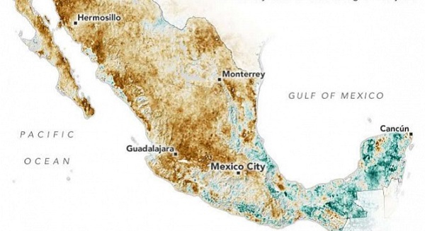 NASA alerta sobre la grave sequía que enfrenta México