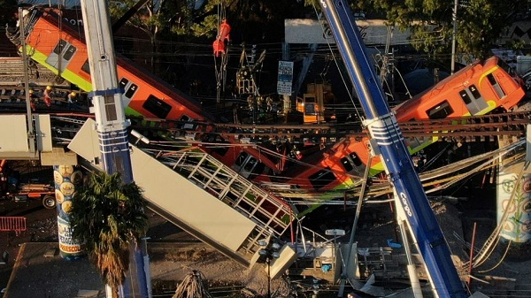 Suman 26 muertos por desplome de Línea 12 del Metro