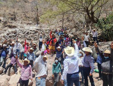 Reitera José Osbaldo Santillán su compromiso a más comunidades de Mezquital