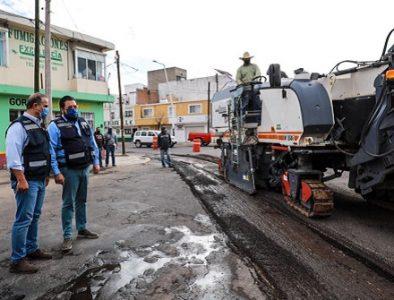 Amplían rehabilitación integral de calles en la ciudad de Durango
